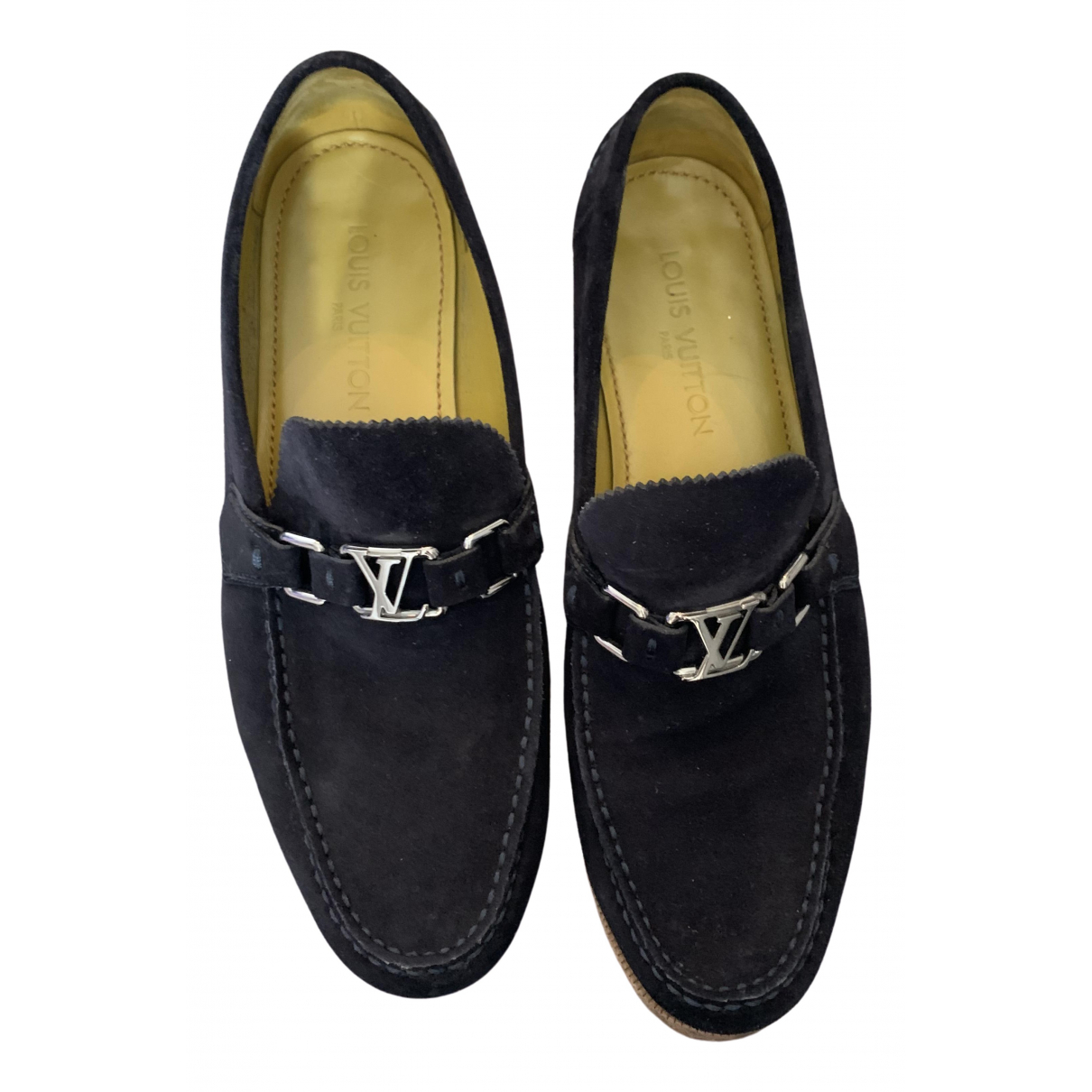 Louis Vuitton \N Navy Suede Flats for Men 9 UK
