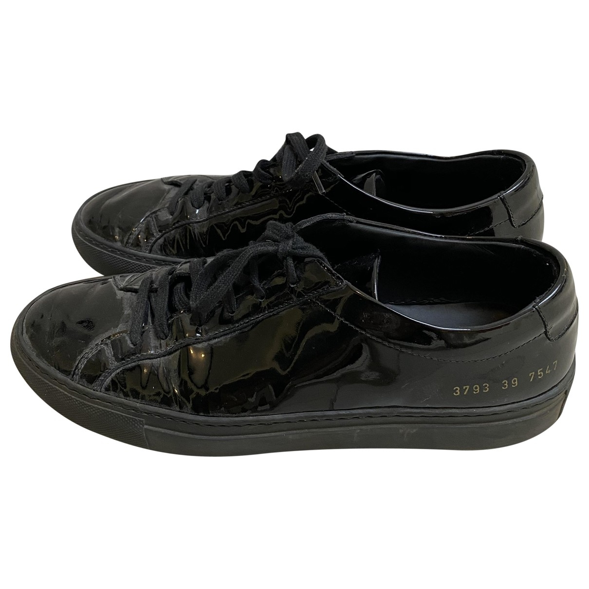 Common Projects \N Sneakers in  Schwarz Lackleder
