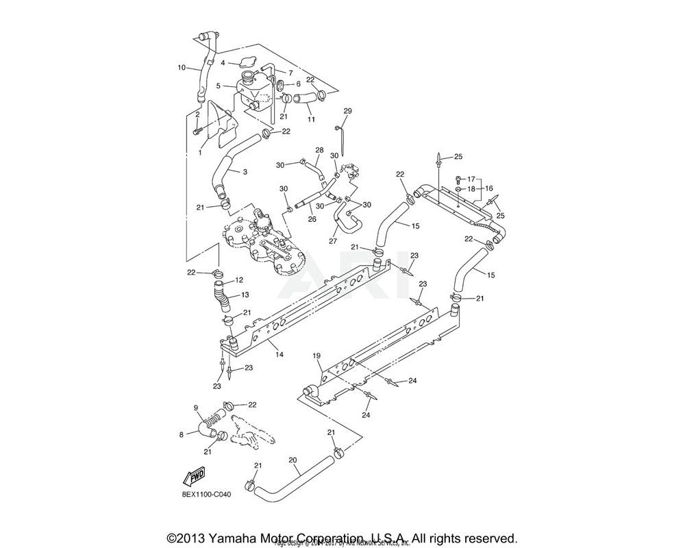 Yamaha OEM 8EX-12481-00-00 PIPE 1