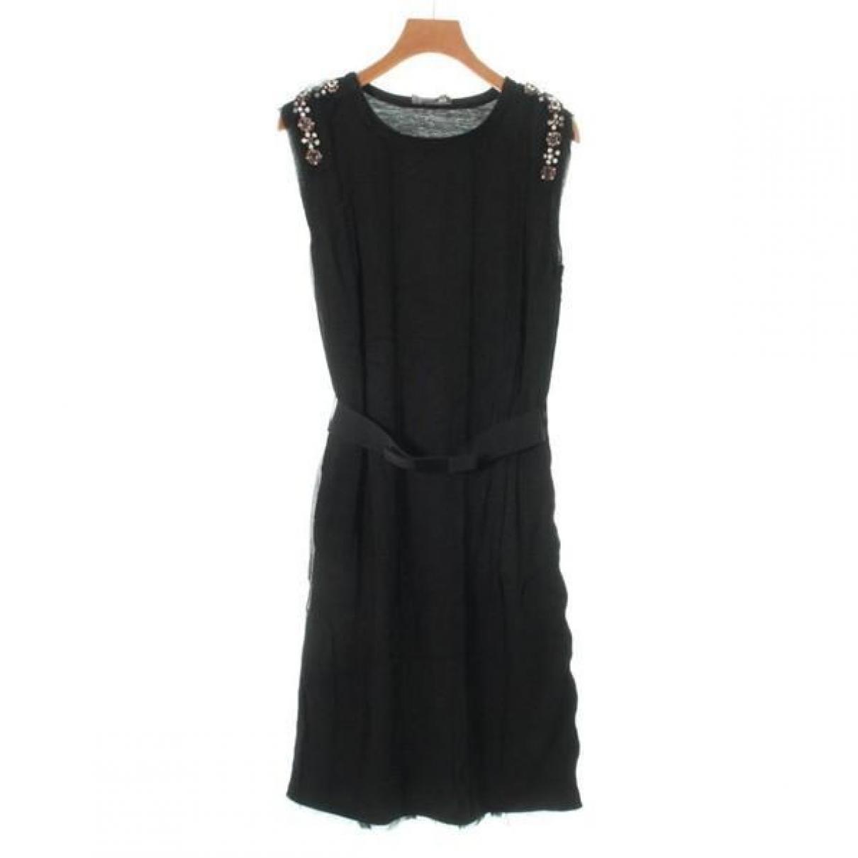 Lanvin - Robe   pour femme en coton - noir