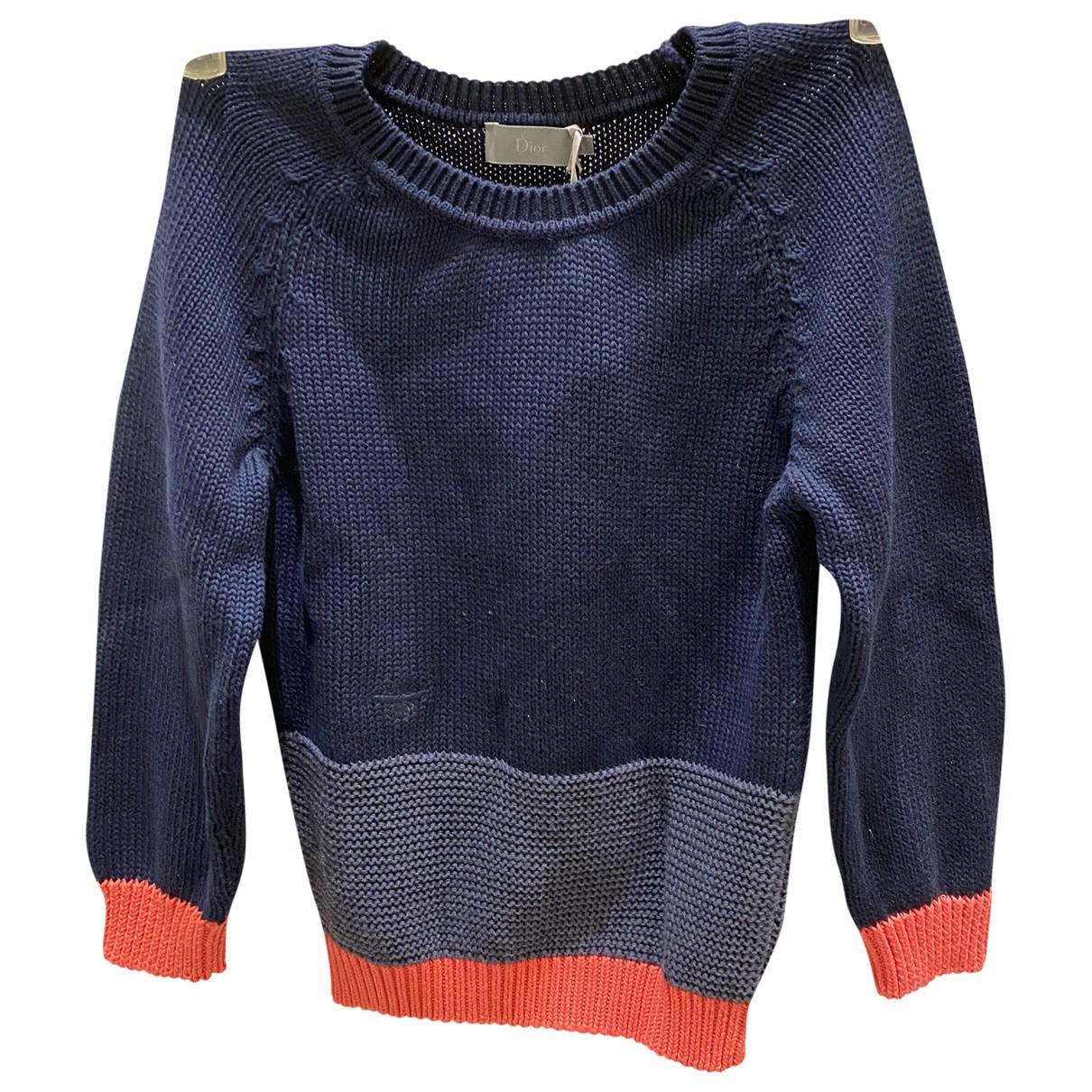 Baby Dior - Pull   pour enfant en coton - bleu
