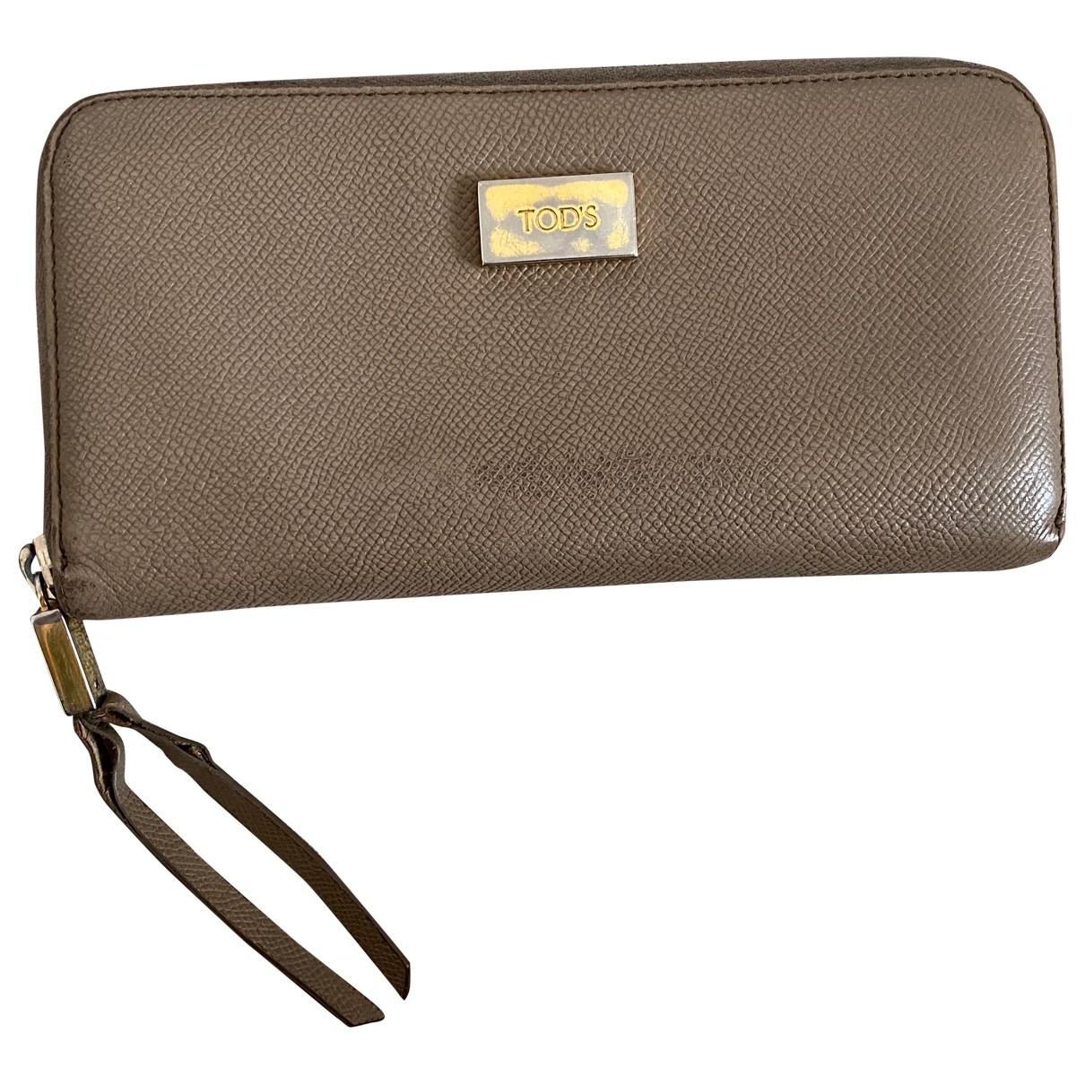 Tods - Portefeuille   pour femme en cuir - beige