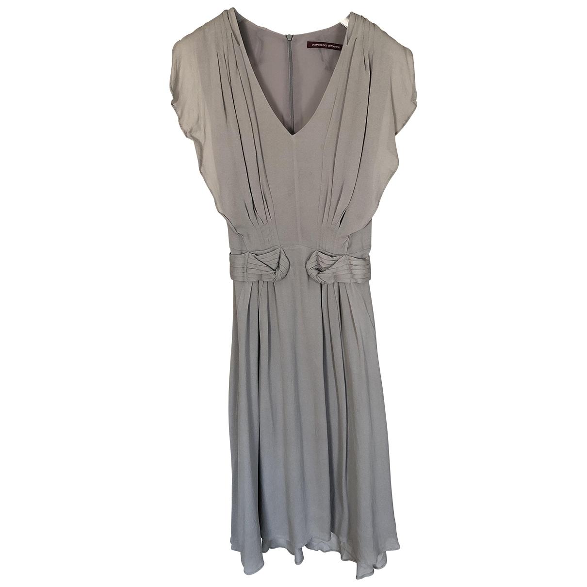 Comptoir Des Cotonniers \N Grey Silk dress for Women 36 FR
