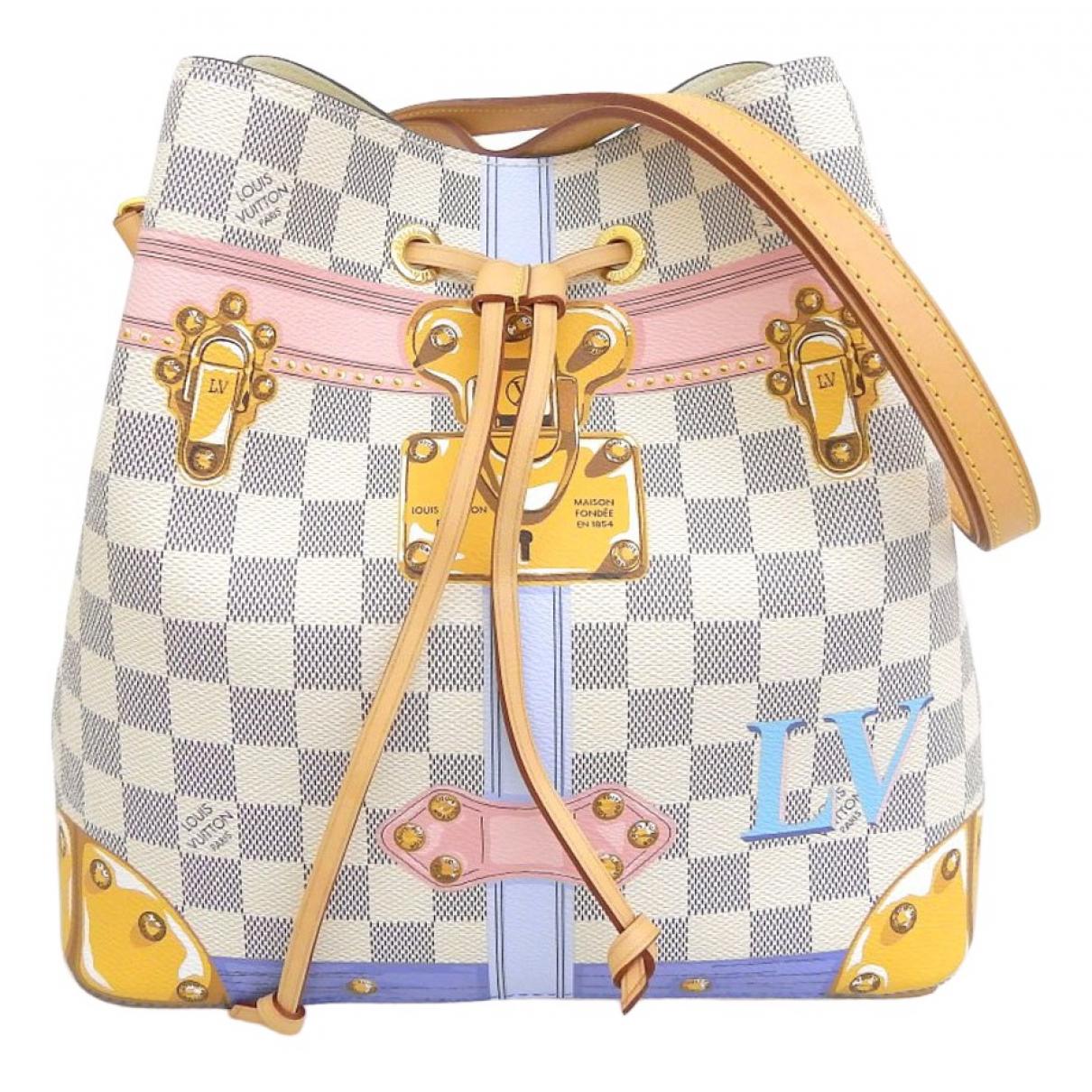 Louis Vuitton NeoNoe Handtasche in  Weiss Leinen