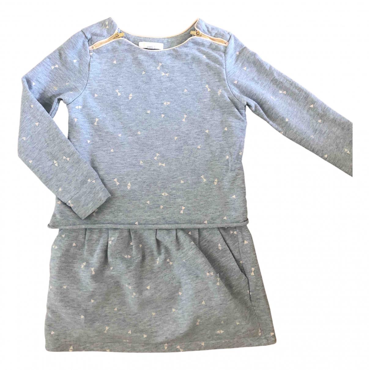 Chloe - Robe    pour enfant en coton - gris