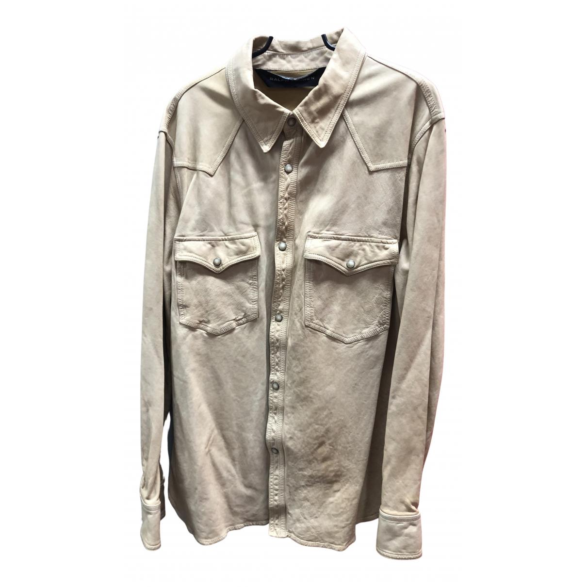 Ralph Lauren N Beige Leather Shirts for Men L International