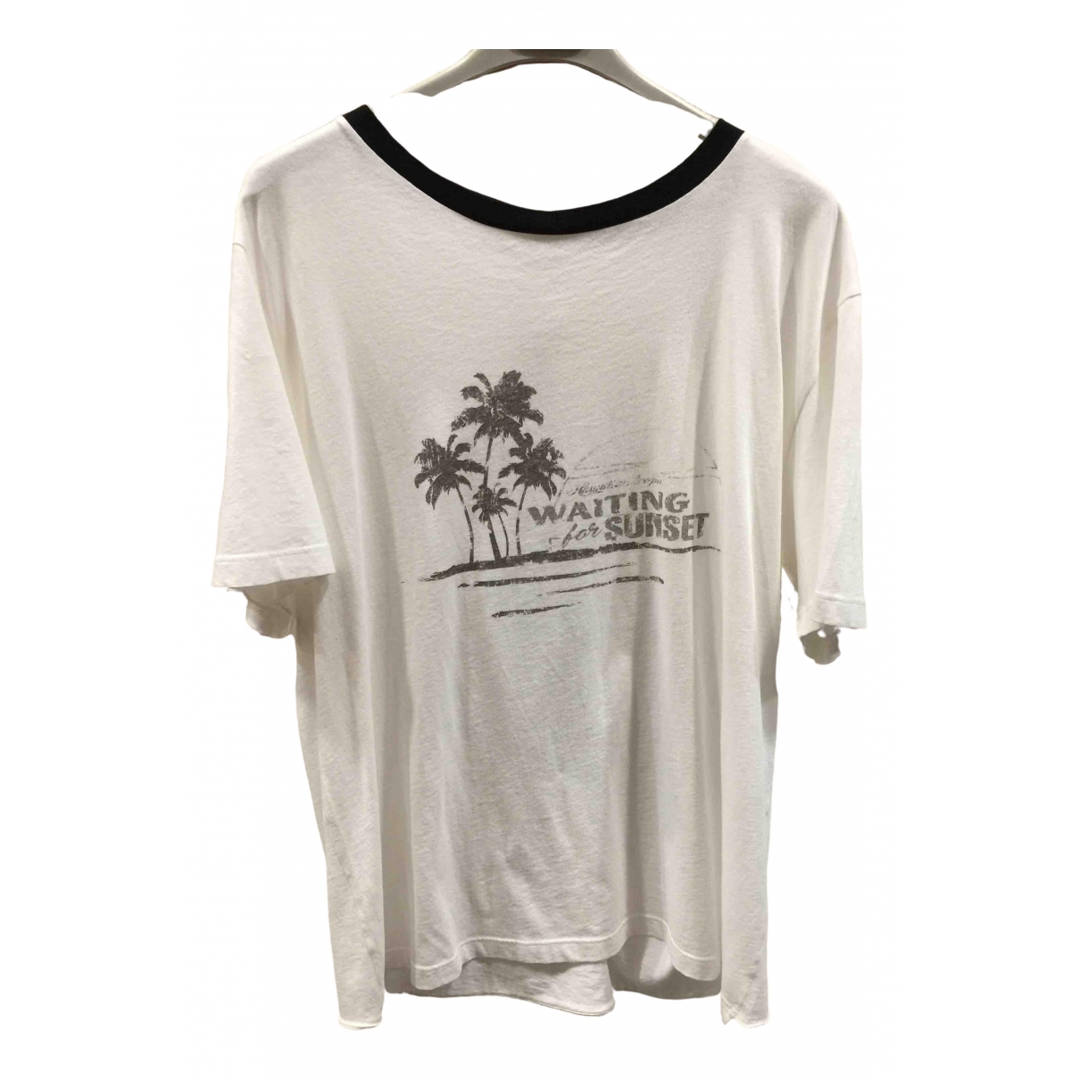 Saint Laurent \N White Cotton T-shirts for Men L International