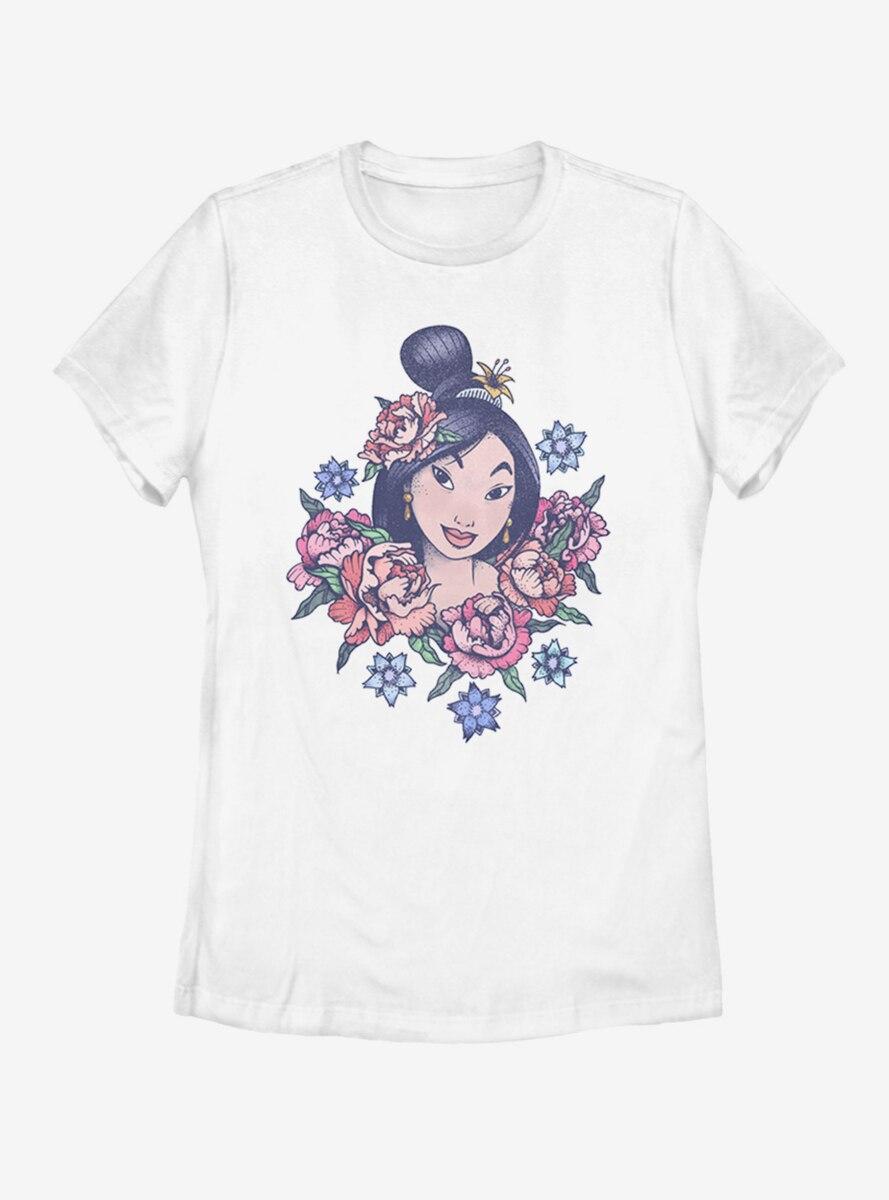 Disney Mulan Floral Womens T-Shirt