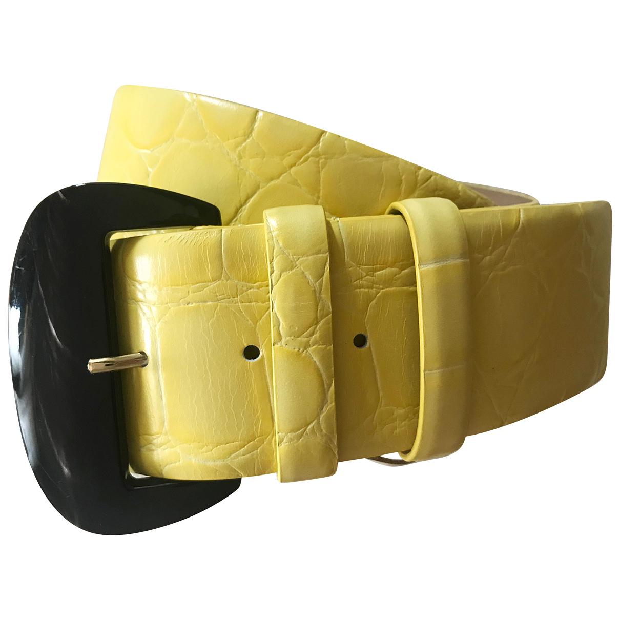 Cinturon Max Mara Atelier de Cuero Max Mara