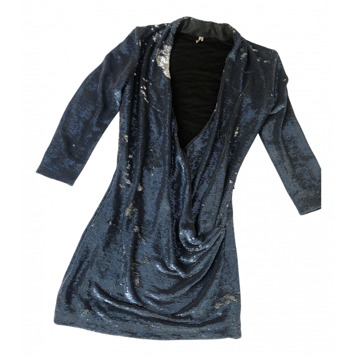 Iro N Blue Glitter dress for Women 0 0-5