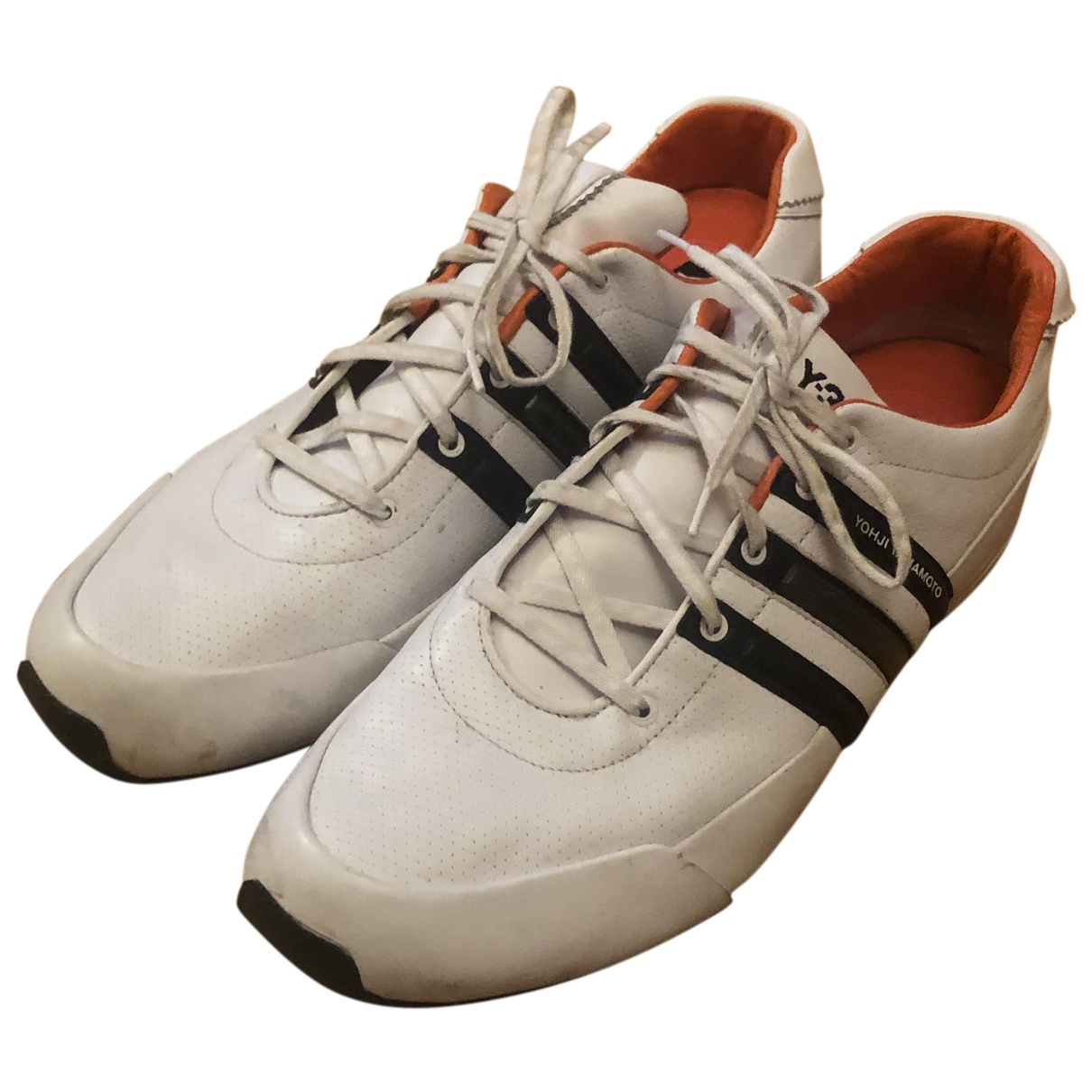 Y-3 By Yohji Yamamoto N White Leather Trainers for Men 14 US