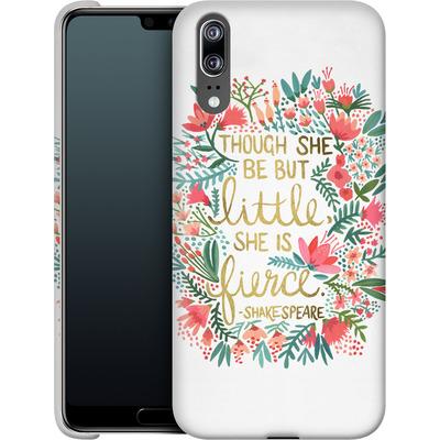 Huawei P20 Smartphone Huelle - Little But Fierce White von Cat Coquillette