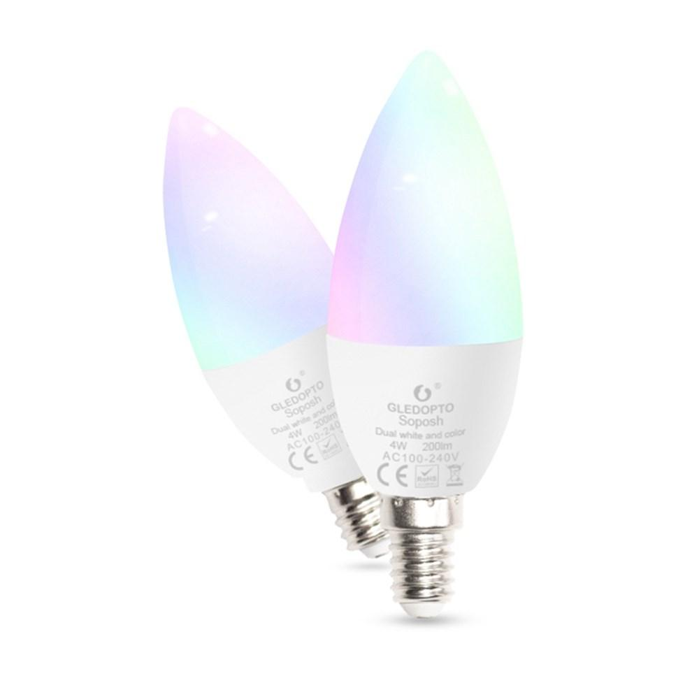 GLEDOPTO Zig.Bee ZLL GL-B-001Z AC100-240V RGBCCT E14 4W LED Candle Bulb Work with Amazon Echo Plus