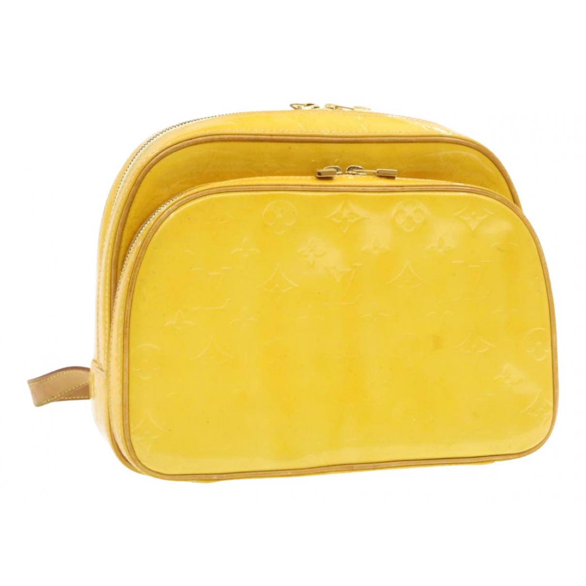 Louis Vuitton - Sac a dos Murray pour femme en cuir verni - jaune