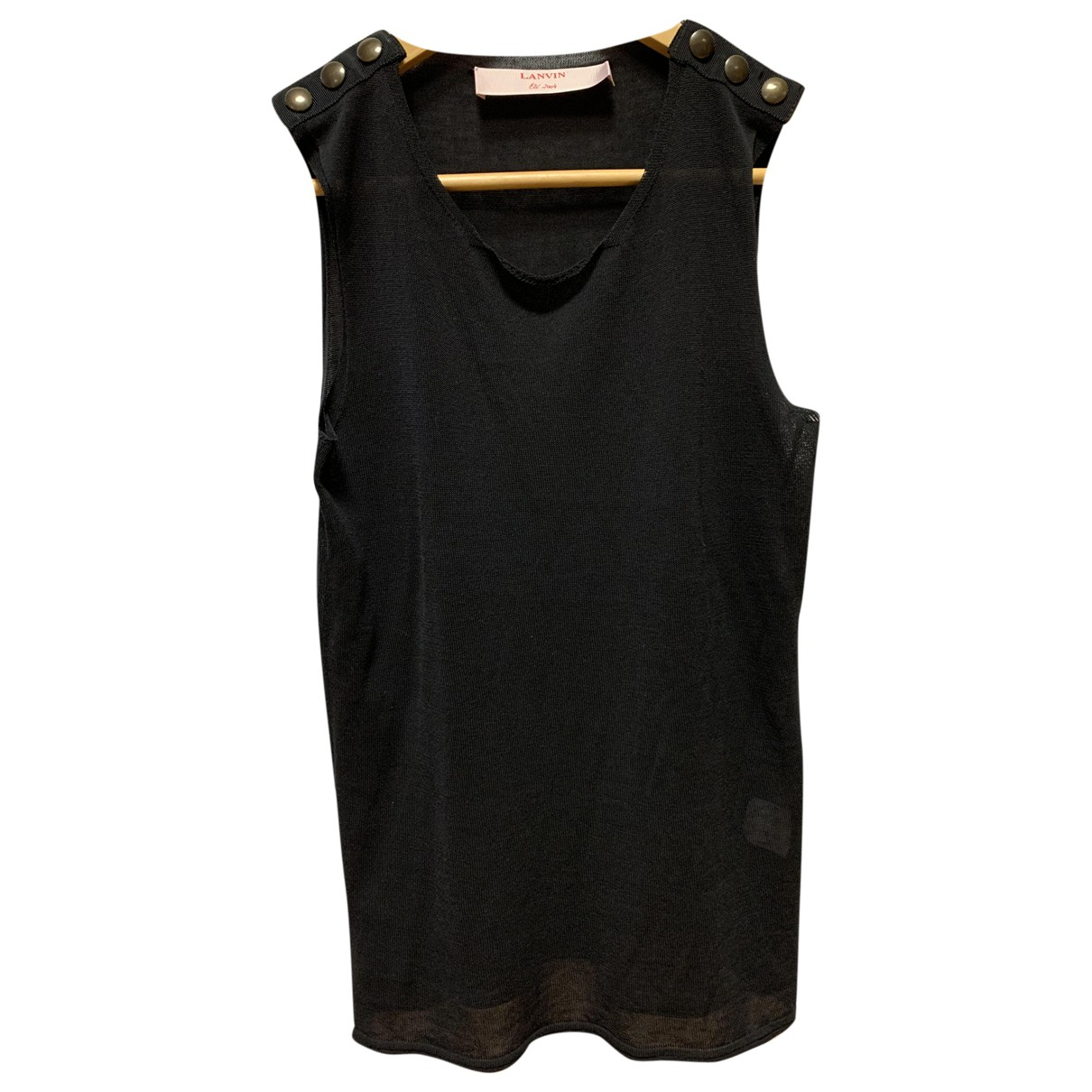 Lanvin \N Black Cotton  top for Women S International