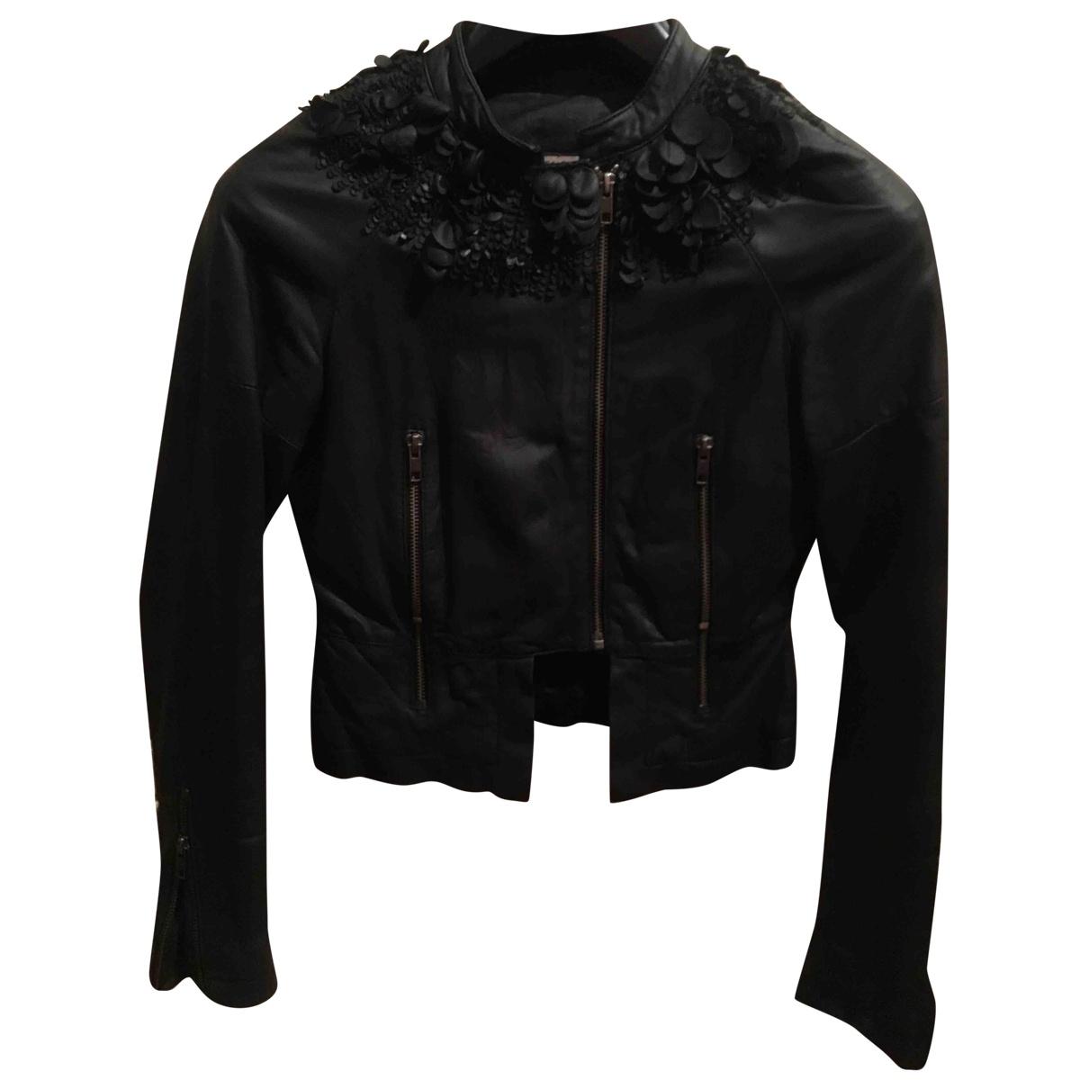 Givenchy - Blouson   pour femme en cuir - noir