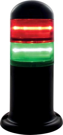 RS PRO Steady Light Element Green, Red LED, Steady Light Effect 120 → 240 V ac