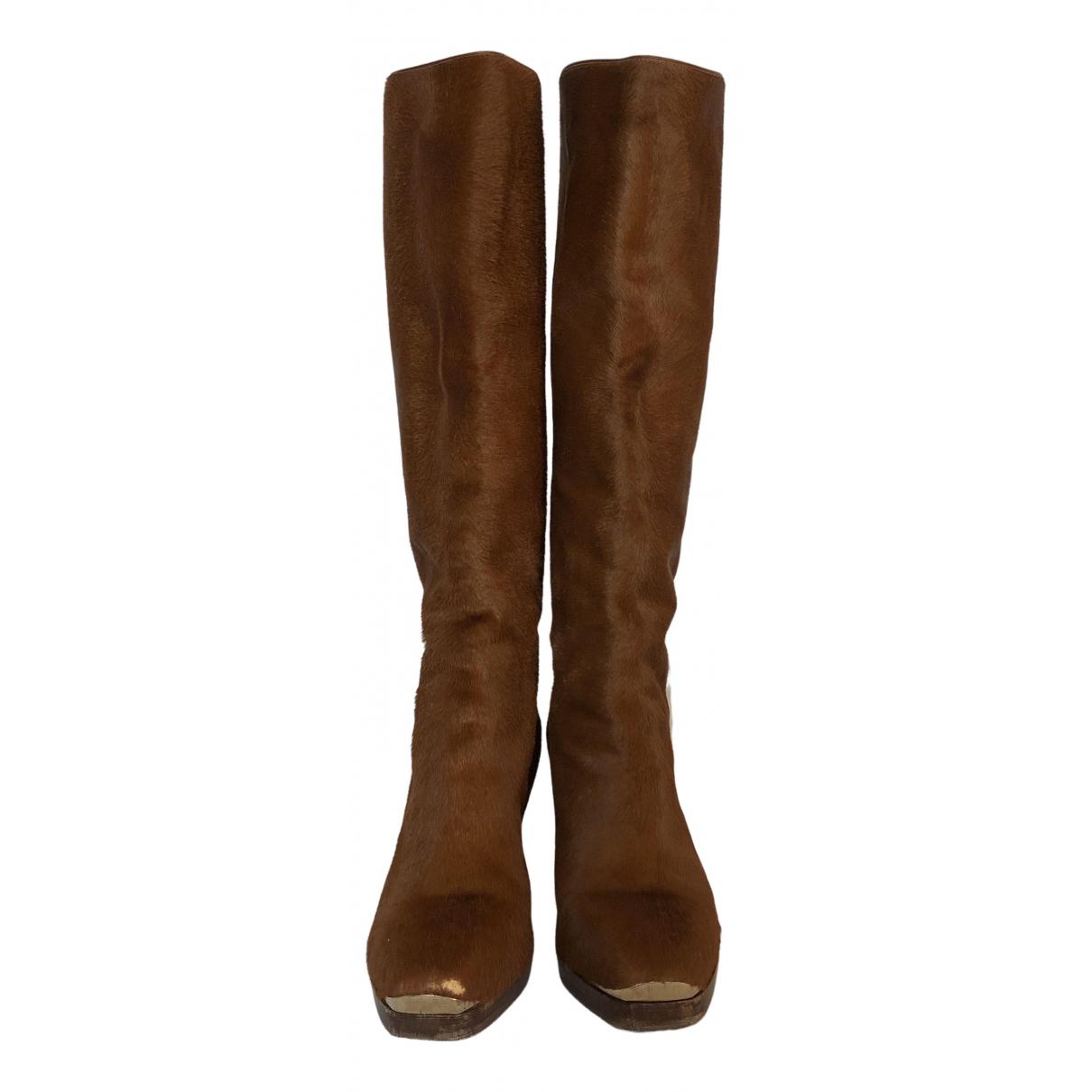 Trussardi N Camel Pony-style calfskin Boots for Women 36 IT