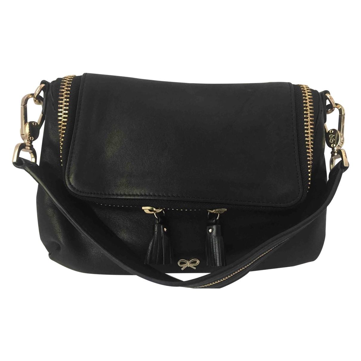 Anya Hindmarch Maxi Zip Handtasche in  Schwarz Leder