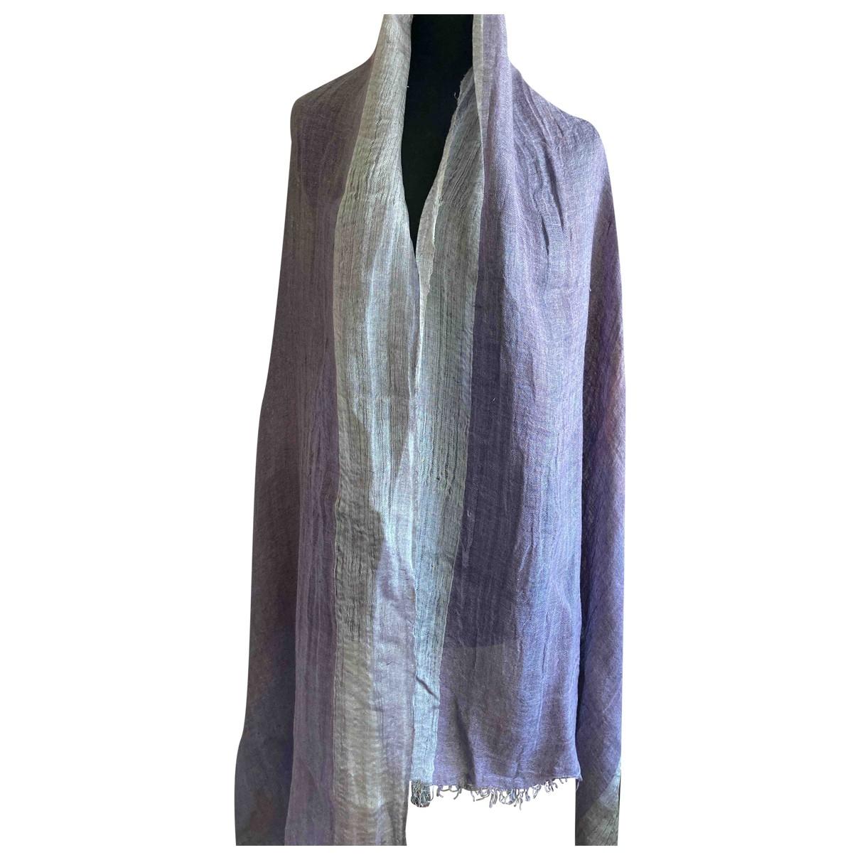 Faliero Sarti - Foulard   pour femme en lin - violet