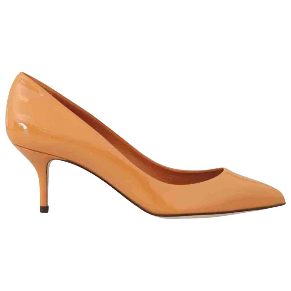 Dolce & Gabbana - Escarpins   pour femme en cuir verni - orange