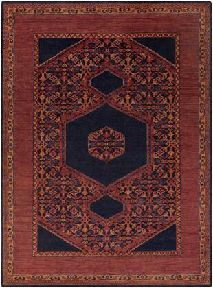 Haven HVN-1216 8' x 11' Rectangle Traditional Rug in Burgundy  Dark Purple  Burnt Orange  Dark Red  Dark Blue