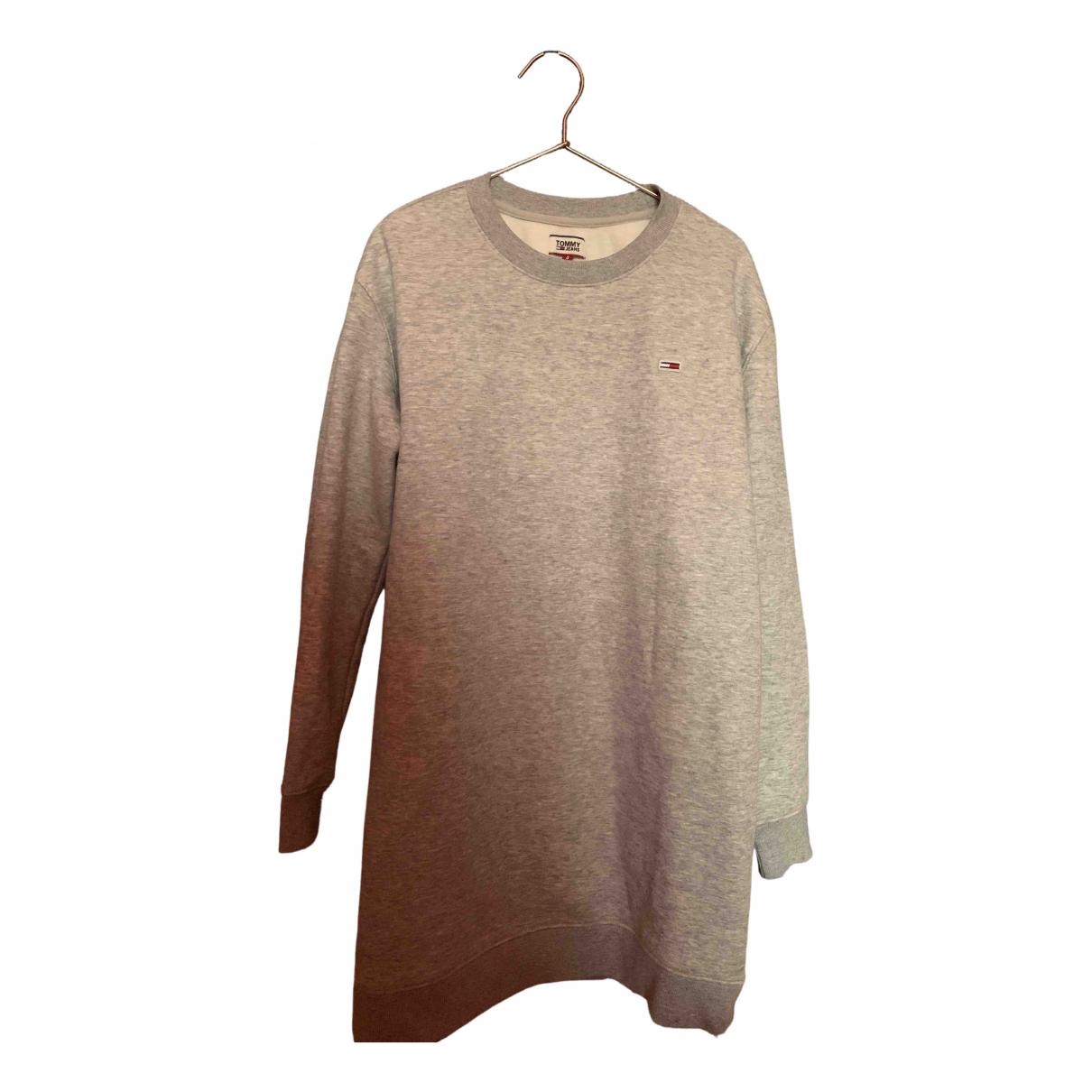 Tommy Jeans \N Kleid in  Grau Baumwolle