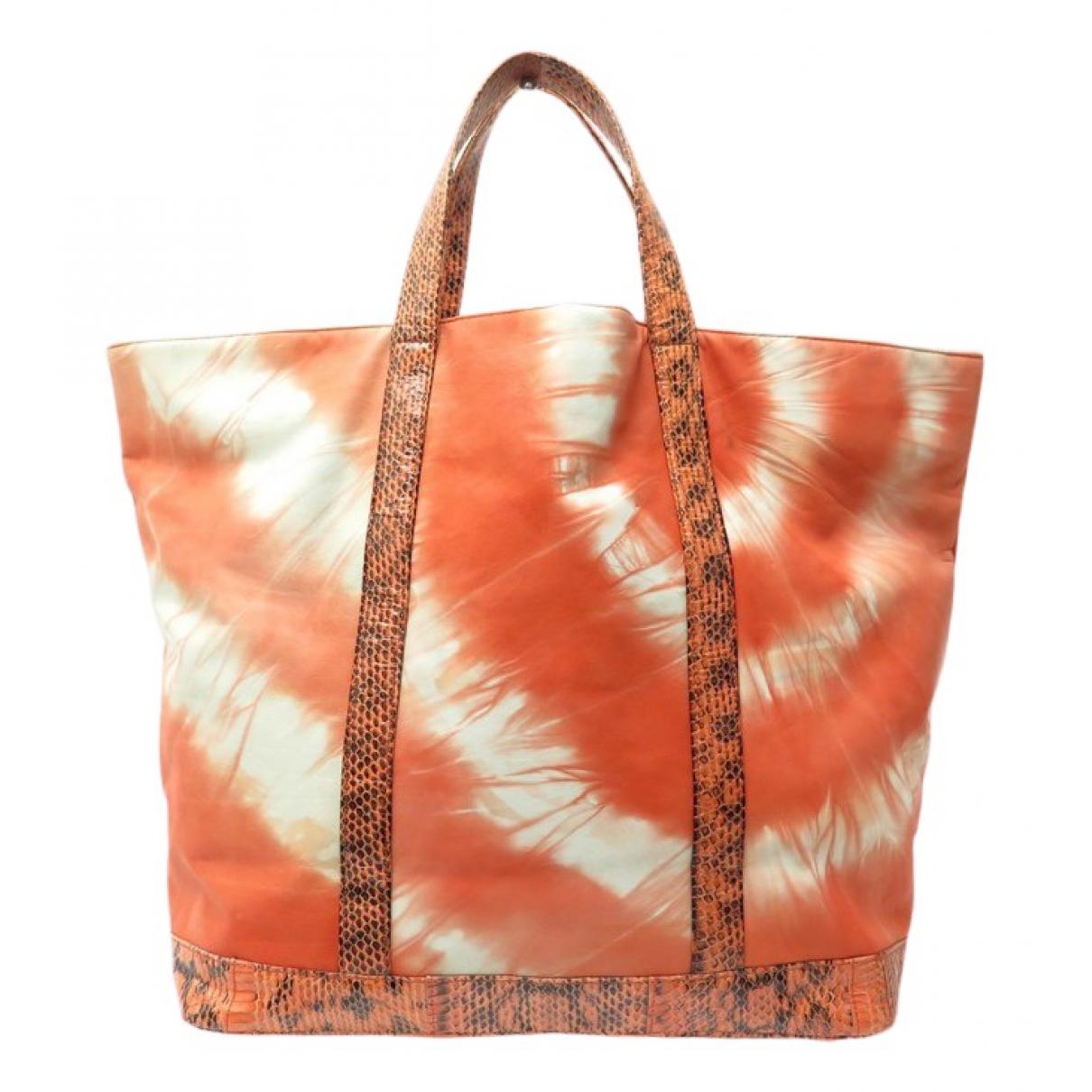 Vanessa Bruno \N Handtasche in  Orange Exotenleder