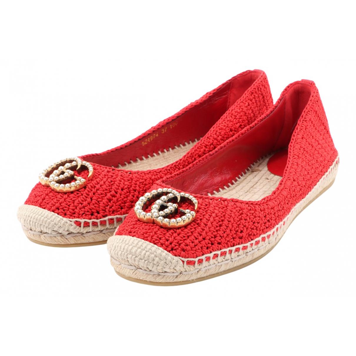 Gucci - Espadrilles   pour femme en toile - rouge