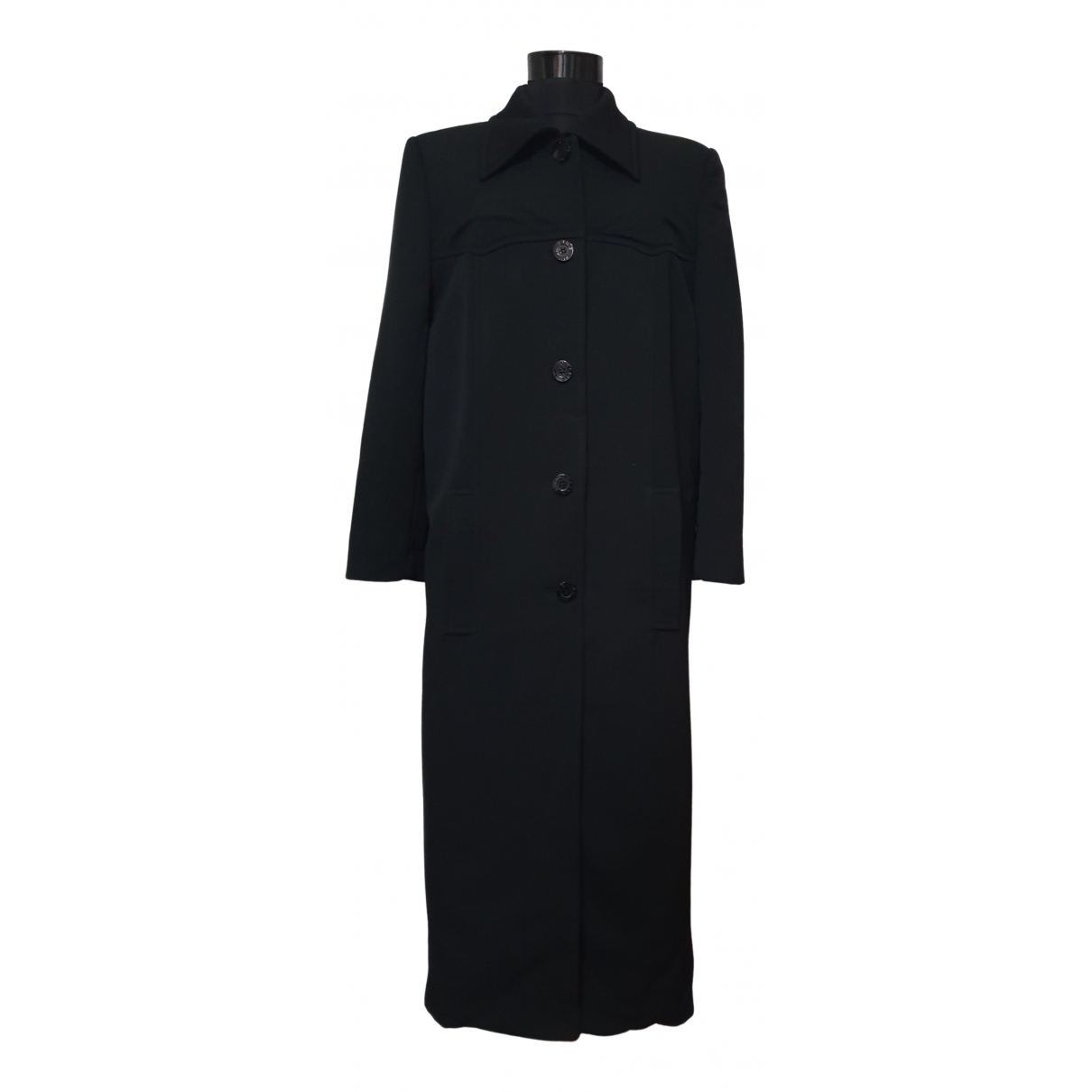 Celine - Manteau   pour femme en laine - noir