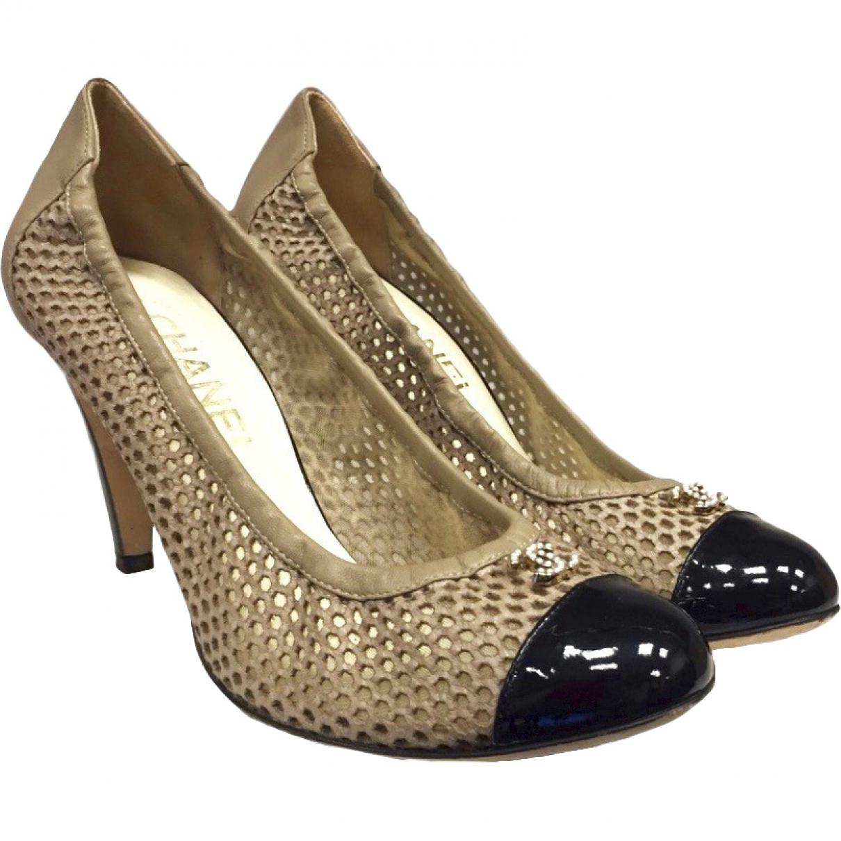 Chanel \N Beige Leather Heels for Women 38 EU