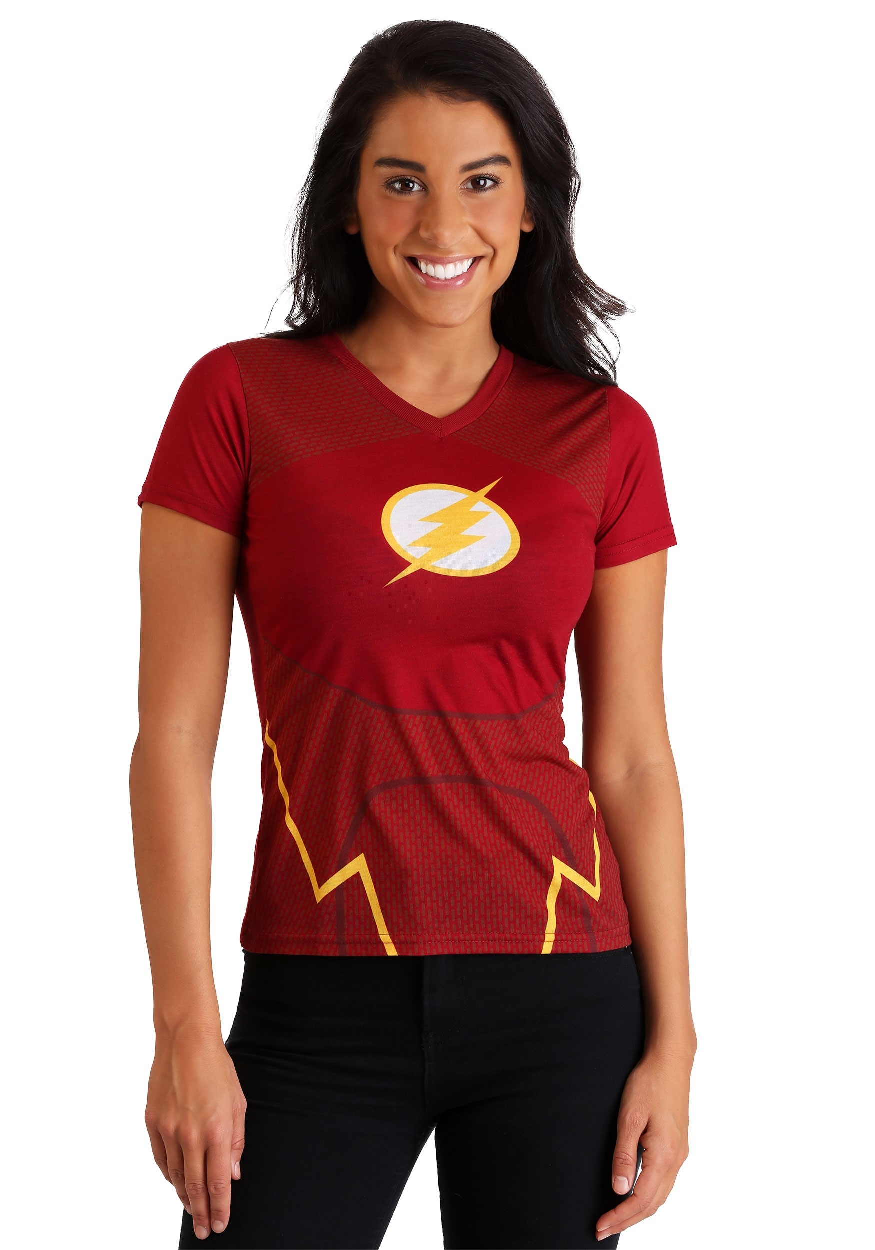 DC Comics The Flash Character Costume Tee for Women