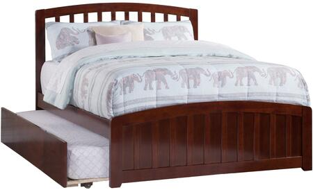 Richmond Collection AR8836014 Full Size Platform Bed with Matching Footboard  Twin Size Urban Trundle  Slat Headboard and Eco-Friendly Solid Hardwood