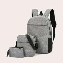 Set de mochila con letra 3 piezas
