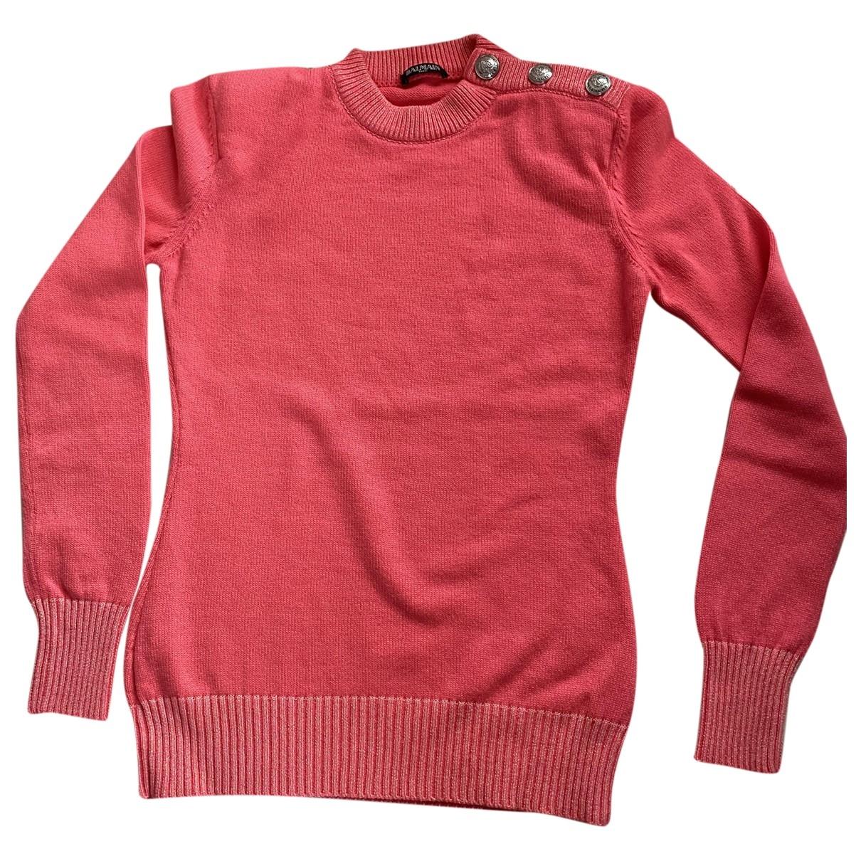 Balmain \N Pullover in  Rosa Kaschmir