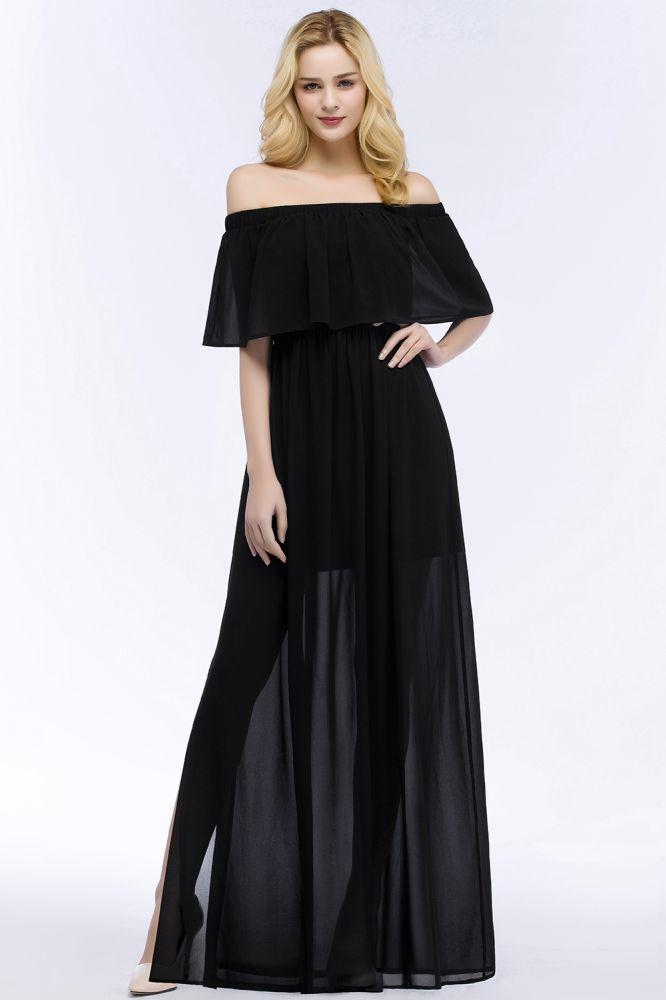 PANDORA | Une ligne de robes de demoiselle d'honneur en mousseline de soie noire