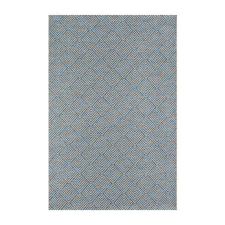 Momeni Como 3 Rectangular Indoor/Outdoor Rugs, One Size , Blue