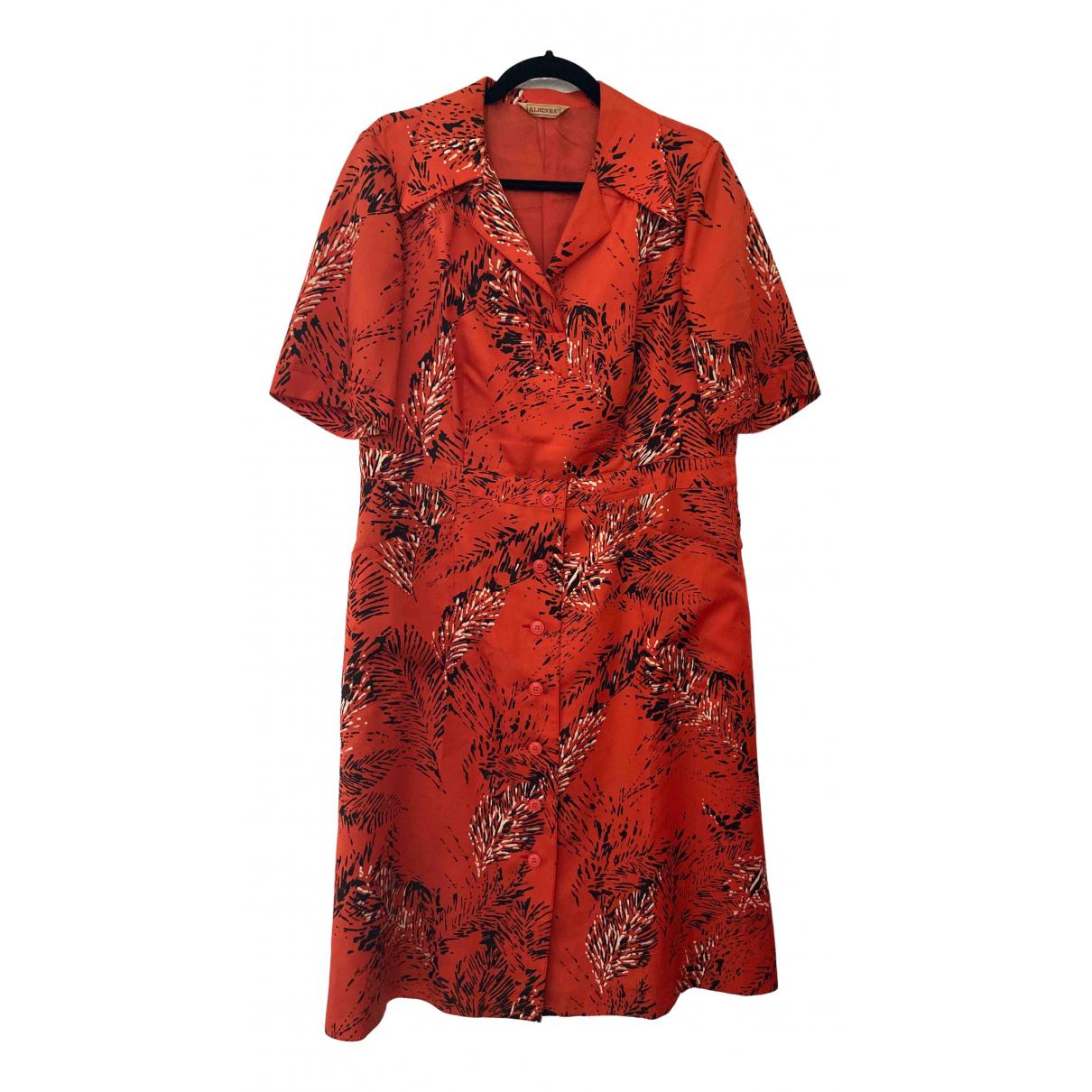 Non Signe / Unsigned Hippie Chic Kleid in  Rot Baumwolle