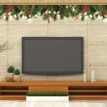 Weihnachten Wandaufkleber mit Pflanzen Muster