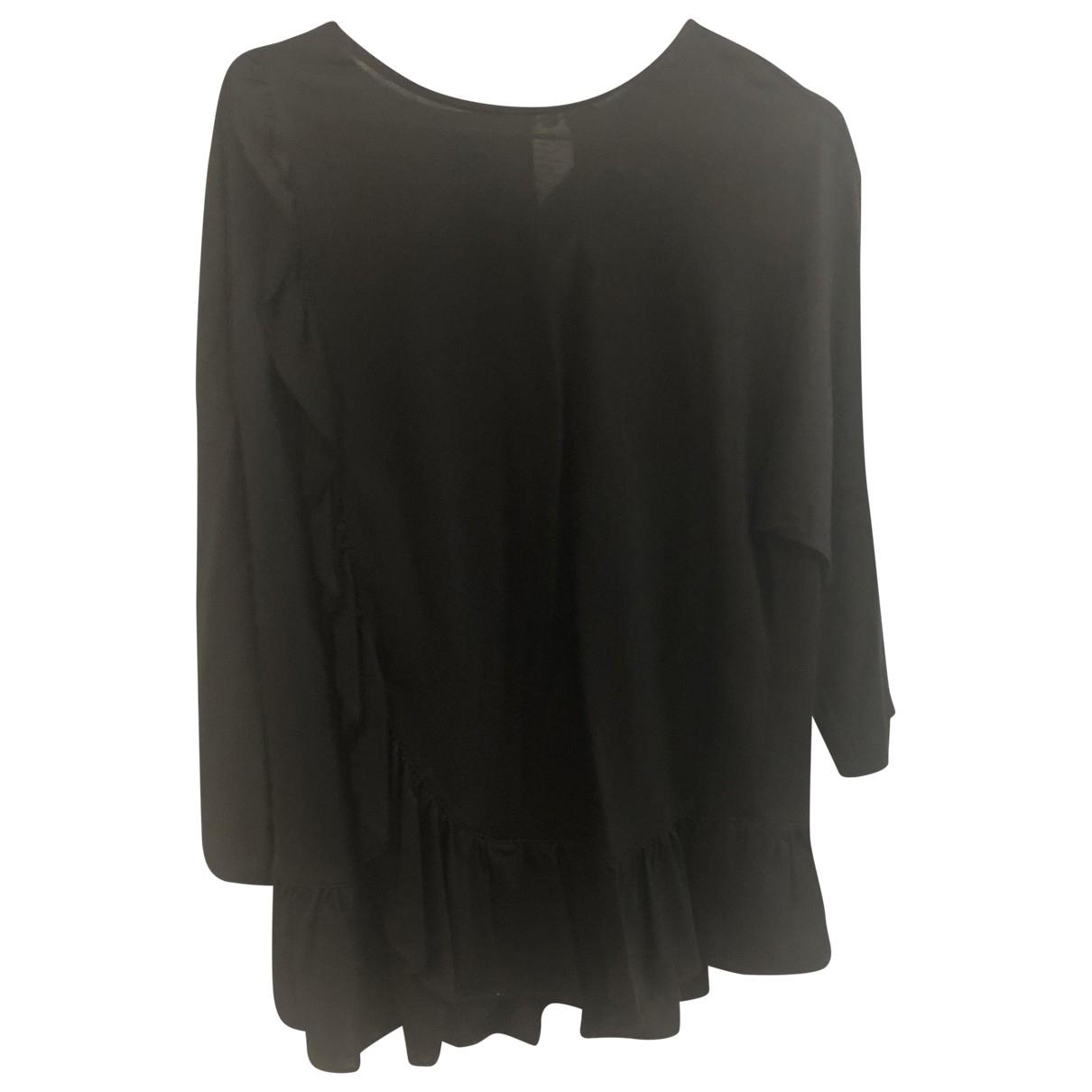 Uterque - Top   pour femme en coton - noir