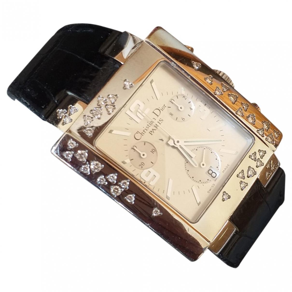 Christian Dior \N Uhr in  Schwarz Stahl