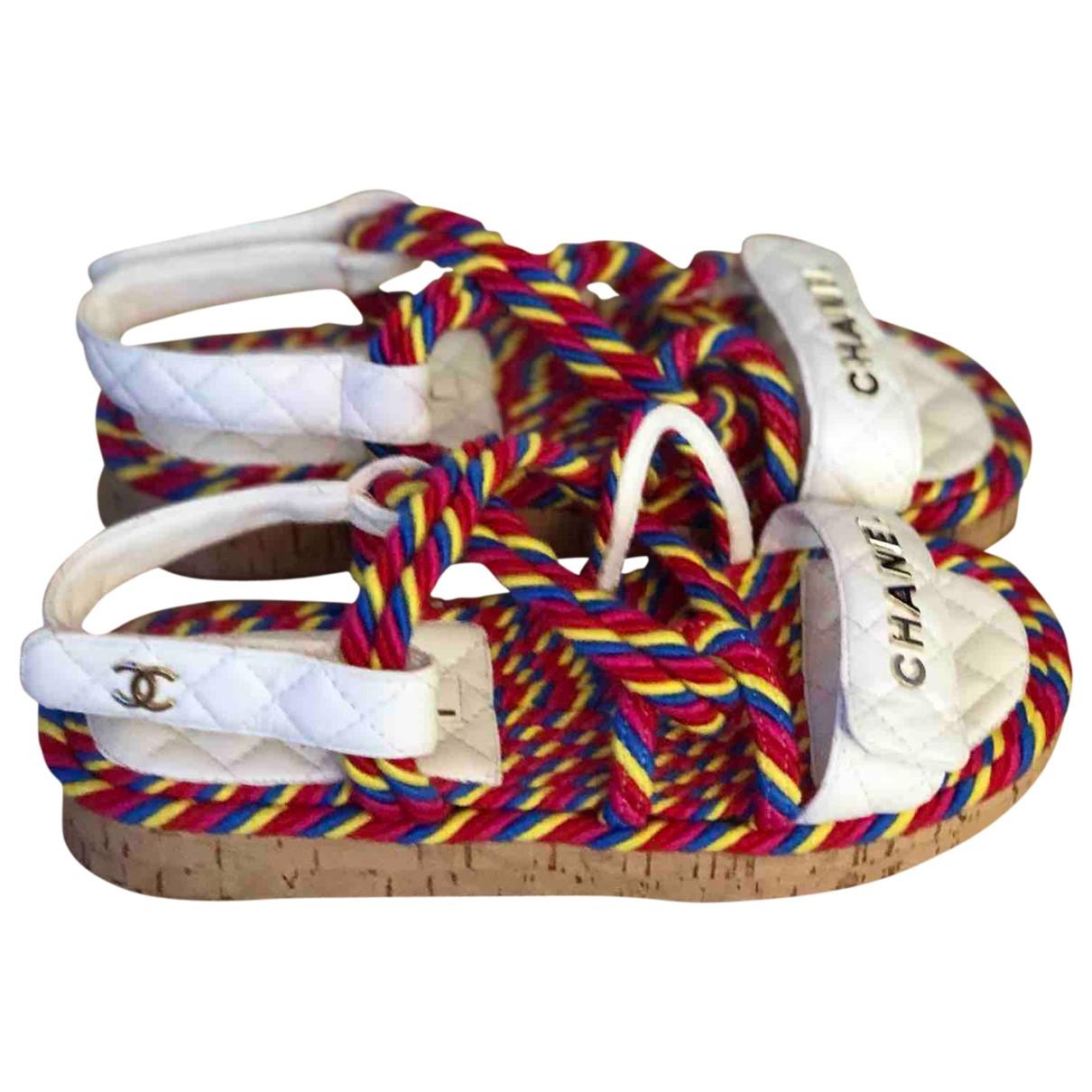 Chanel Dad Sandals Sandalen in  Bunt Leder