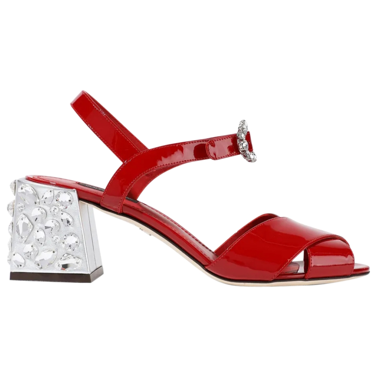 Dolce & Gabbana \N Red Leather Sandals for Women 38.5 EU