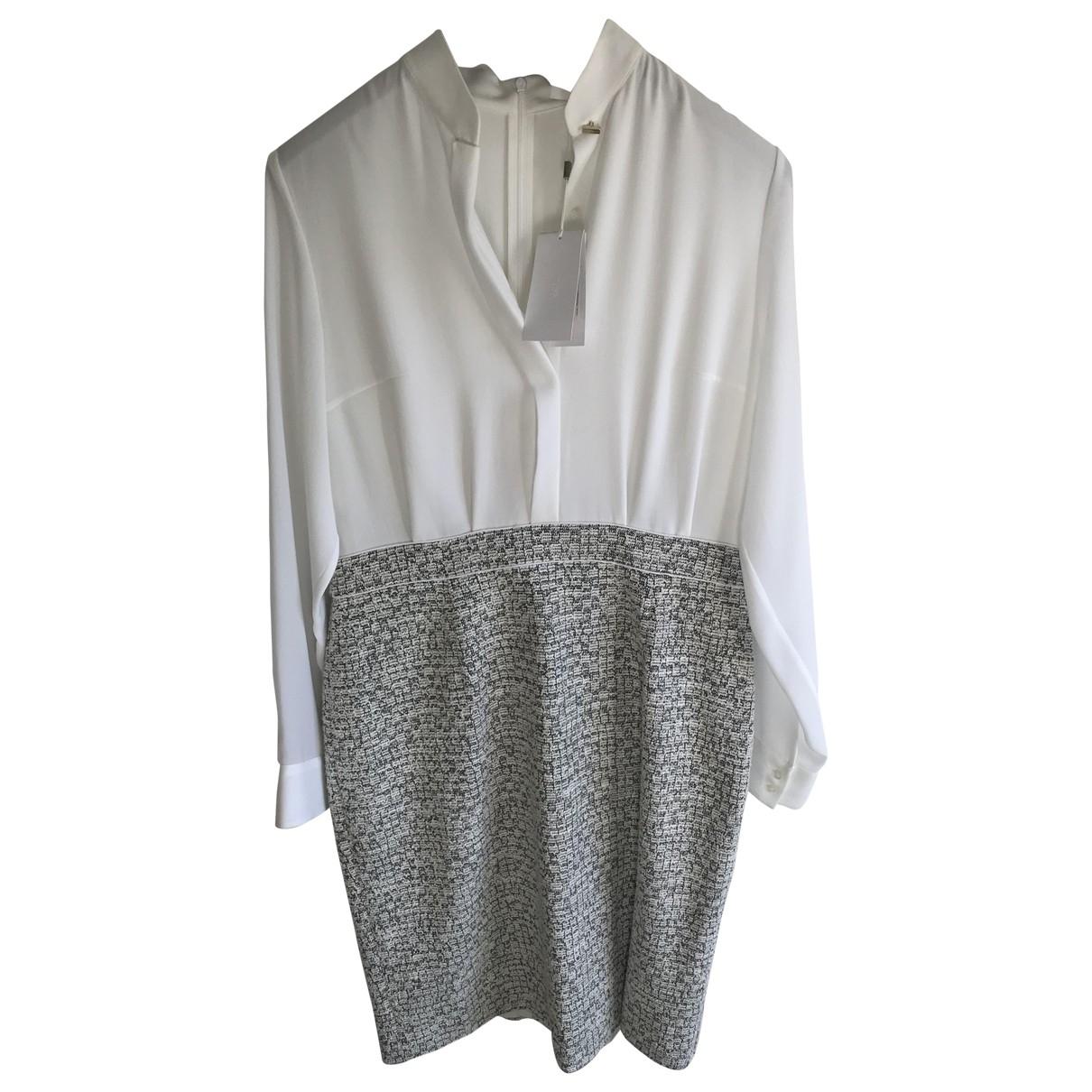 Hugo Boss \N Kleid in  Ecru Baumwolle