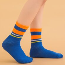 Toddler Kids Striped Pattern Socks