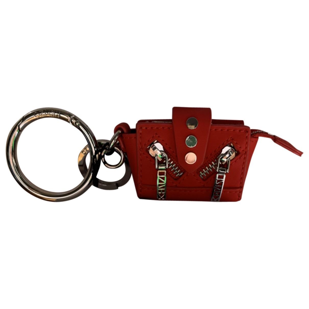 Kenzo - Petite maroquinerie   pour femme en cuir - rouge