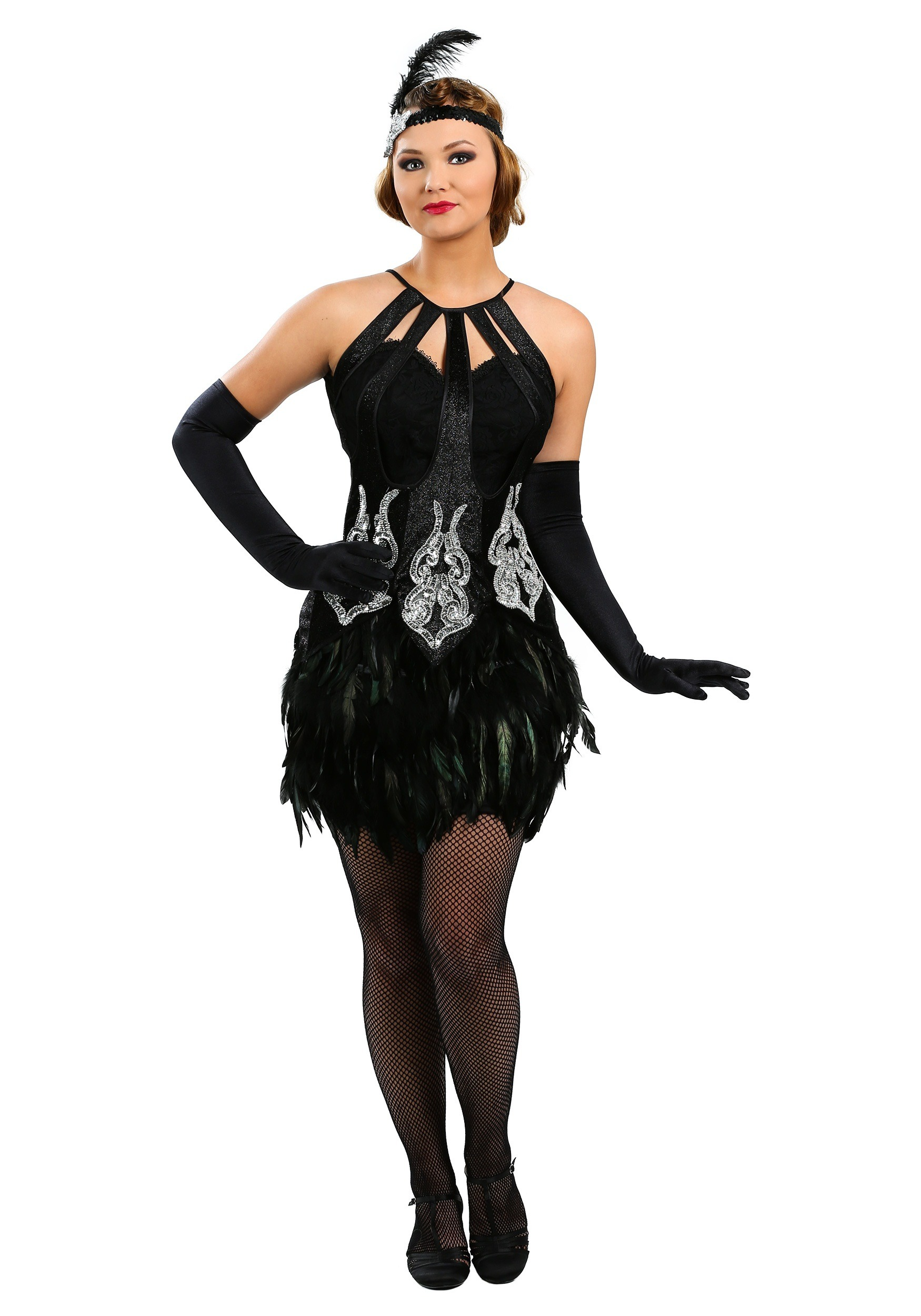 Feathered Showgirl Costume