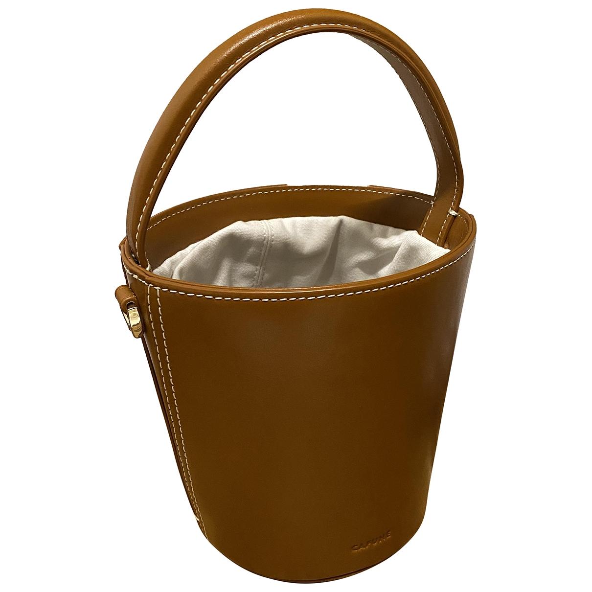 Cafune \N Handtasche in  Kamel Leder
