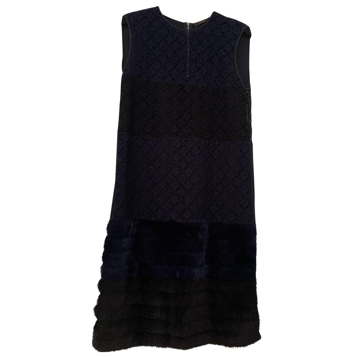 Louis Vuitton \N Kleid in  Blau Fell