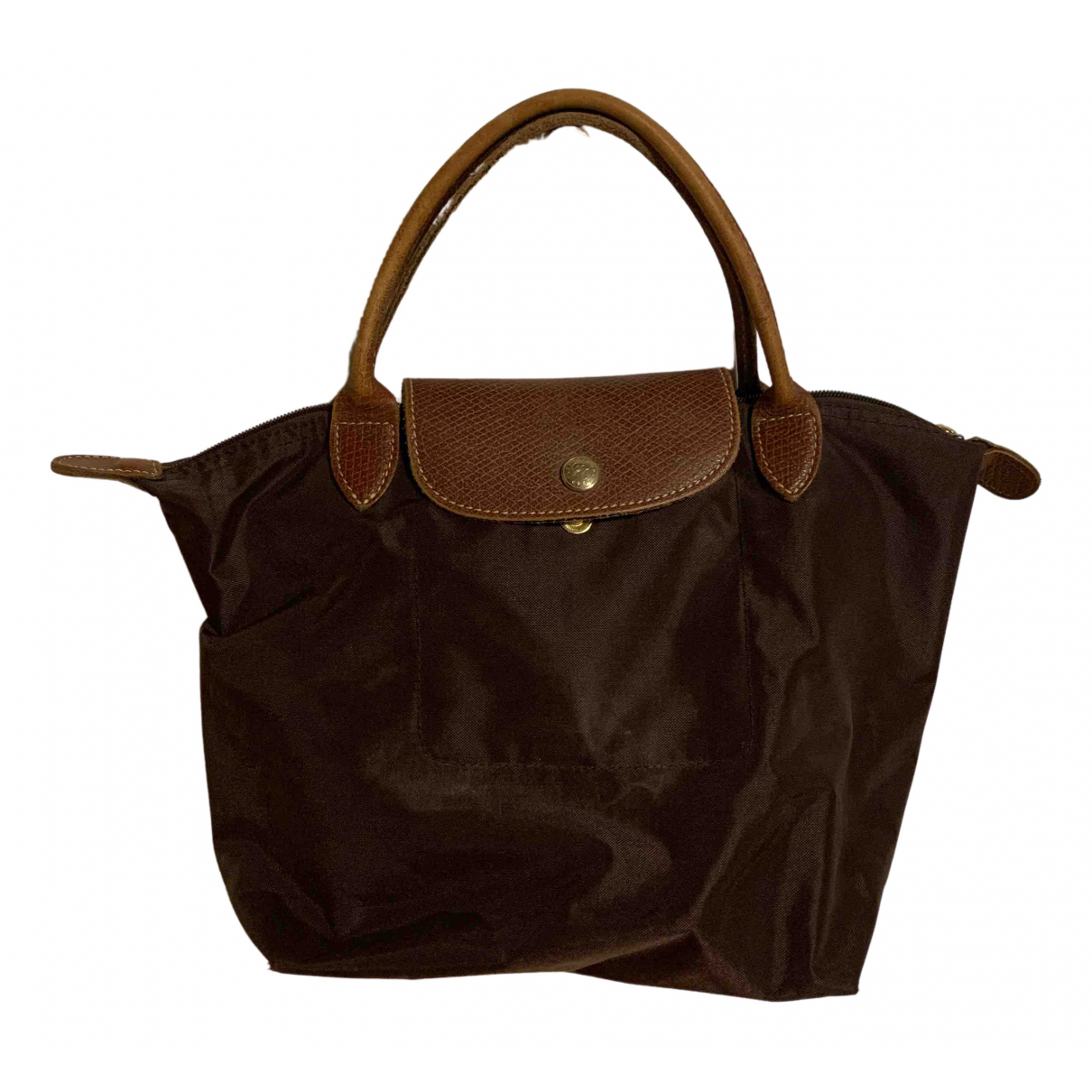 Longchamp Pliage  Brown Cloth handbag for Women \N